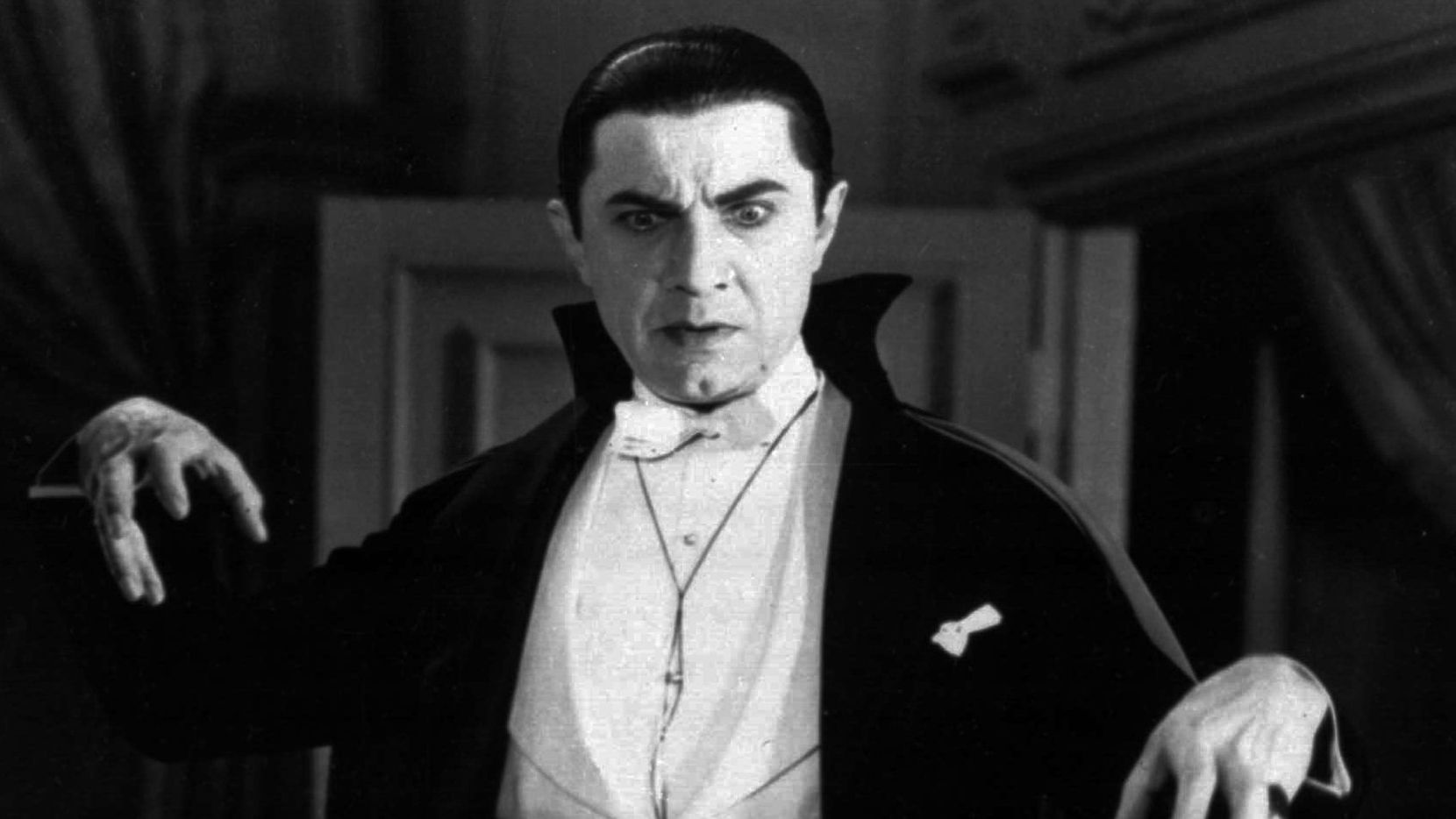 "Bela Lugosi as Count Dracula just before he blurted out ""bleh!"" in his thick Transylvanian accent."