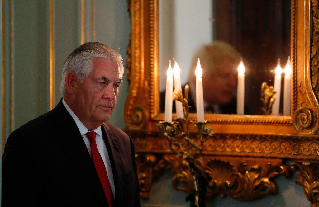 "Secretary of State Rex Tillerson had said that the U.S. is ""better served by being at the table"" for the Paris deal."