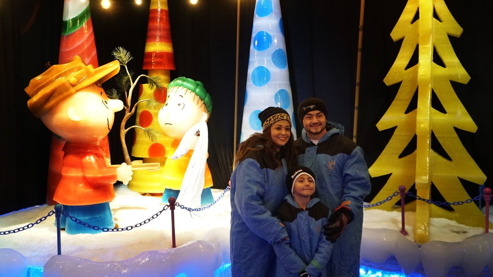 "Ellie Rankin, Jake Rankin and Johnathan Rankin enjoy the Gaylord Texan ""Ice!"" exhibit in Grapevine."