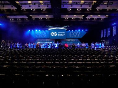 The new esports stadium at the convention center in Arlington is a flexible space with seating for up to 2,500 people.