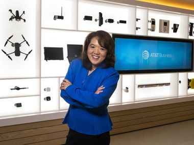 AT&T Business CEO Anne Chow poses for a portrait at the AT&T corporate headquarters in downtown Dallas. Promoted to her current post in September, Chow has agreed to chair the 2020-21 annual campaign for United Way of Metropolitan Dallas and is the first woman executive to do so.