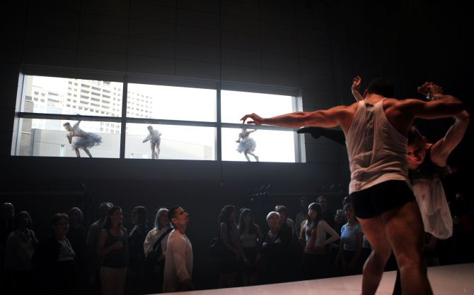 TITAS presented an immersive installation dance by Cedar Lake Contemporary Ballet in Hamon Hall in 2011.