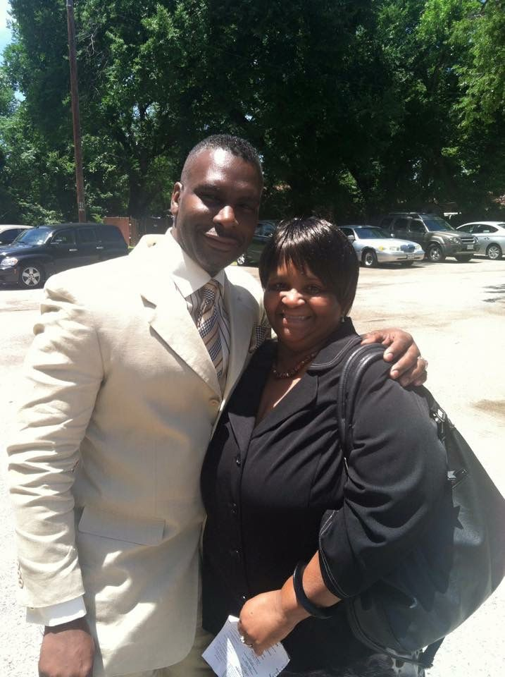 Larry Tutt (left) with his sister, Doris LaVon Sims. Sims died from the coronavirus June 9.