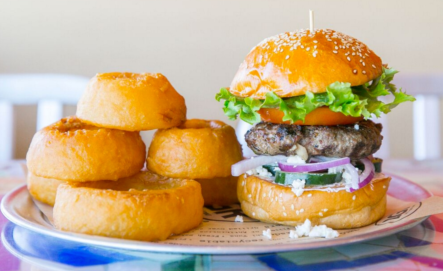 This burger could land on your doorstep.