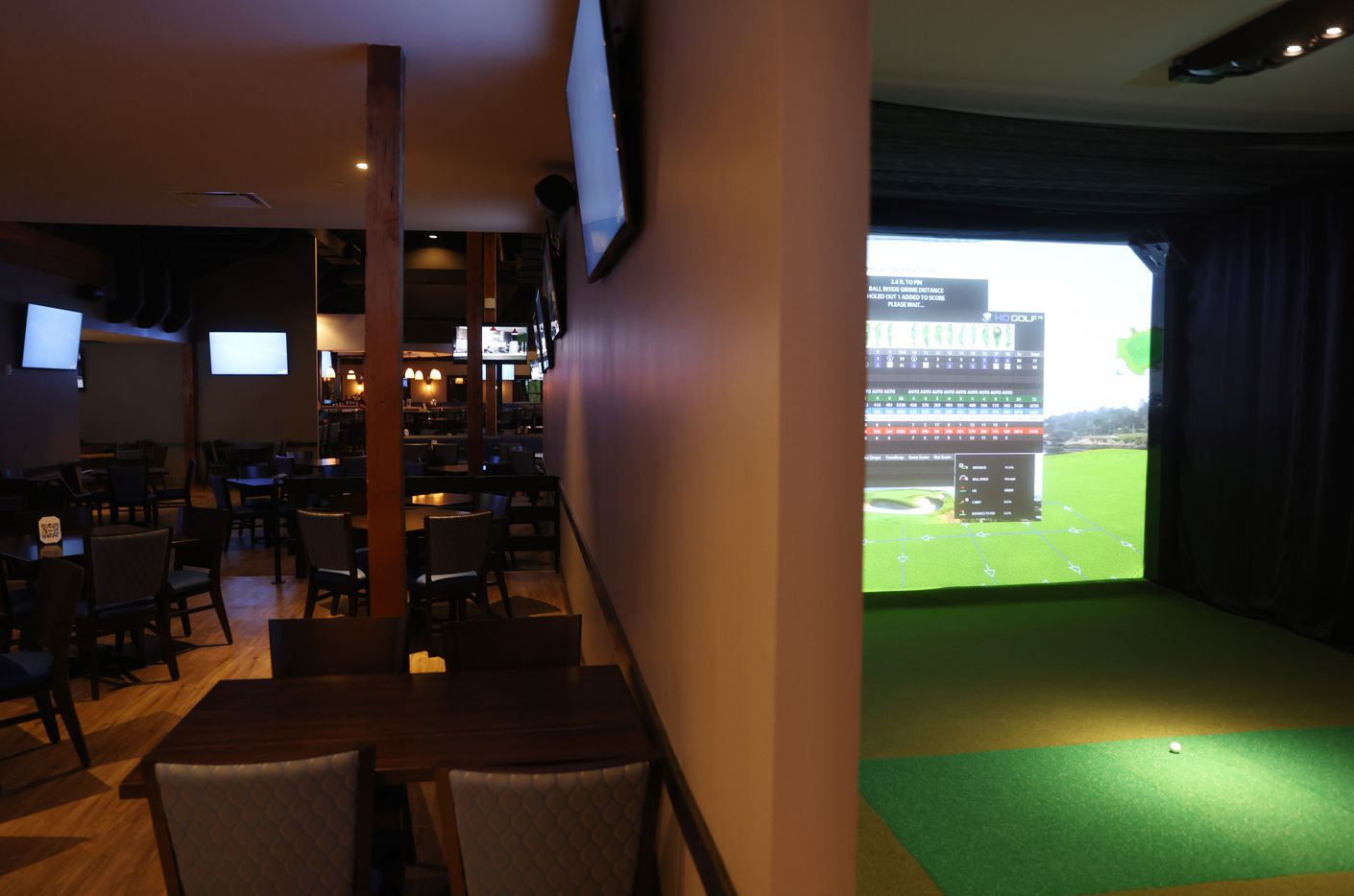 One of five golf simulators at Daylight Golf on Thursday, January 21, 2021in Grapevine, Texas.