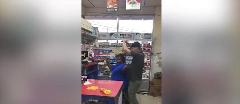 """El protagonista de  """"Magic Mike"""" se detuvo en una gasolinera Sunoco en el pueblo de Statesville.  FOTO TOMADA DE YOUTUBE"""