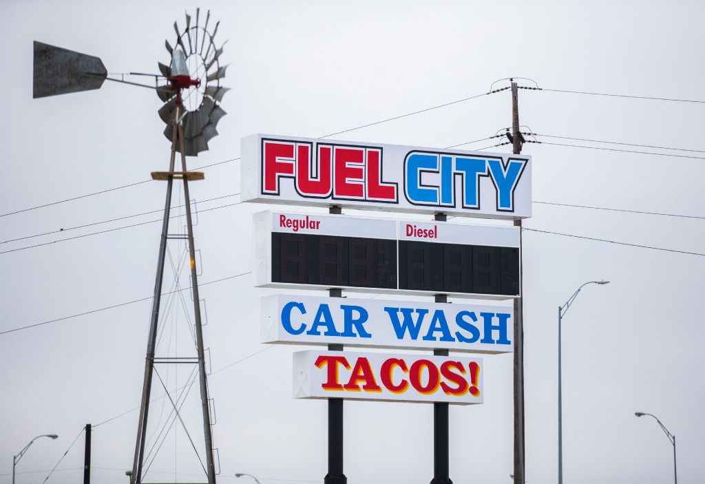 The highway sign at a new Fuel City location on Friday, December 16, 2016 on Haltom Road in Haltom City. (Ashley Landis/The Dallas Morning News)