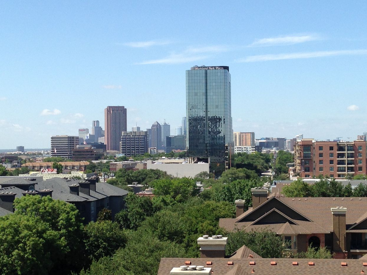 The Katy apartment building has views of downtown, East Dallas and Highland Park.