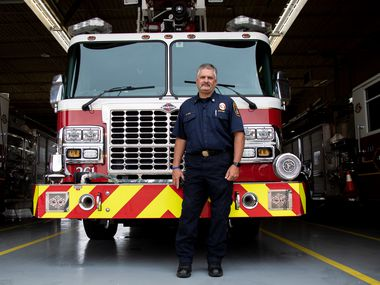 DeSoto Fire Capt. Craig Kirk nearly lost his feet in August 2020 after they were pinned in a fire ladder and he was taken to Methodist Dallas Medical Center.
