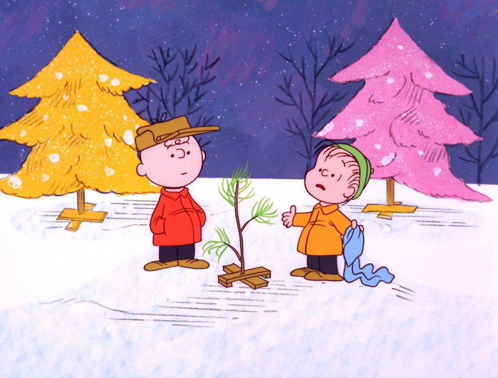 """Charlie Brown and Linus appear in a scene from """"A Charlie Brown Christmas,"""" a television special based on the """"Peanuts"""" comic strip by Charles M. Schulz."""