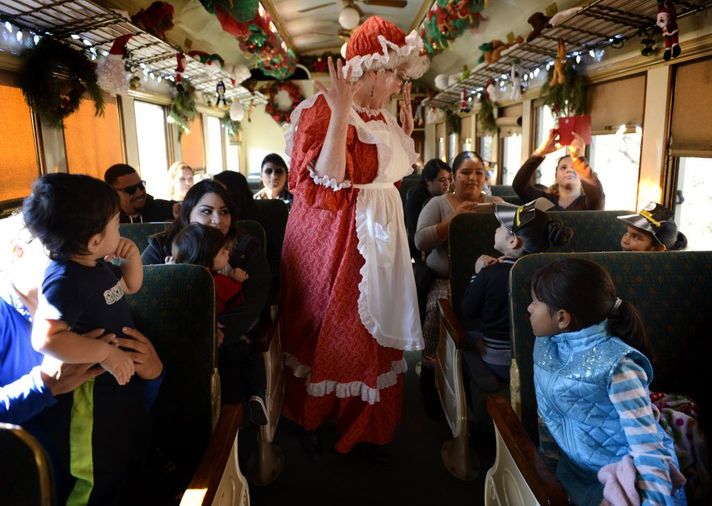 The North Pole Express on the Grapevine Vintage Railroad is shown in this file photo.