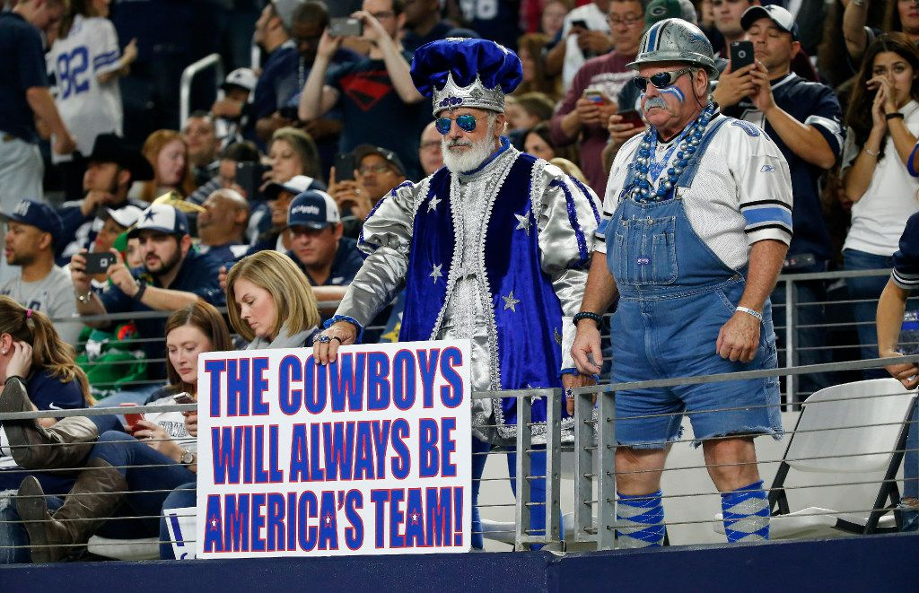 Dallas Cowboys fans watch the game against Detroit Lions at AT&T Stadium in Arlington, Texas, Monday, Dec. 26, 2016. The Dallas Cowboys won 42-21. (Jae S. Lee/The Dallas Morning News)