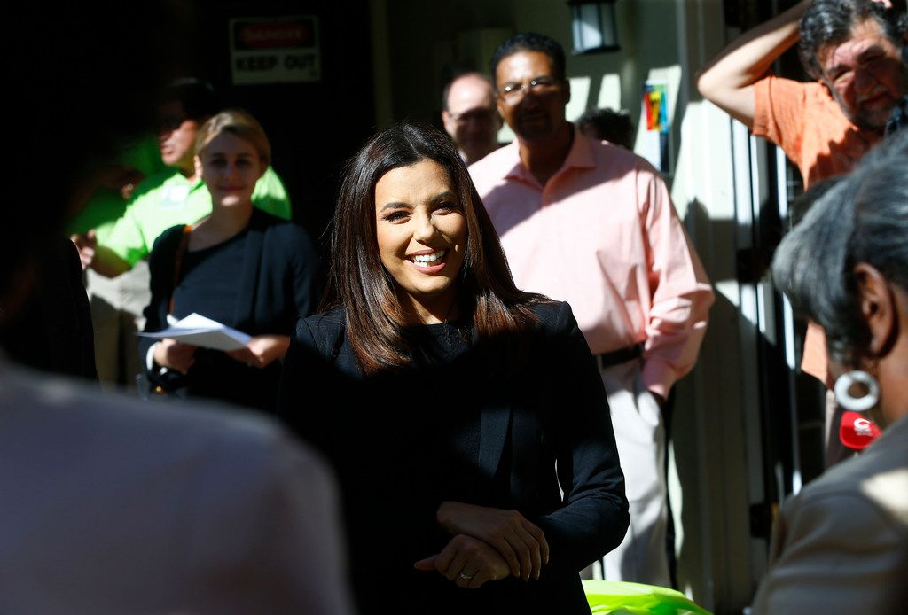 Eva Longoria visits Legends at Lake Highlands in Dallas. The native Texan invested some capital in Turner Multifamily Impact Fund, which works to address the nation's growing shortage of affordable workforce housing.