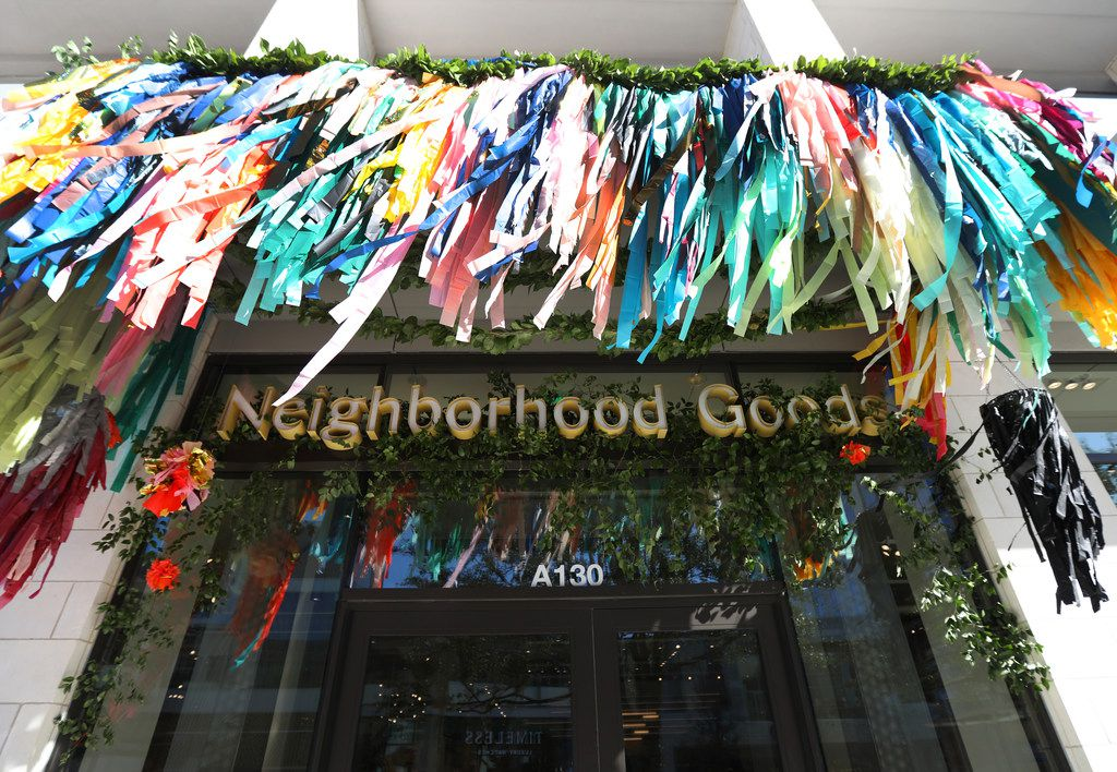 The main entrance of Neighborhood Goods, a new concept store at Legacy West.