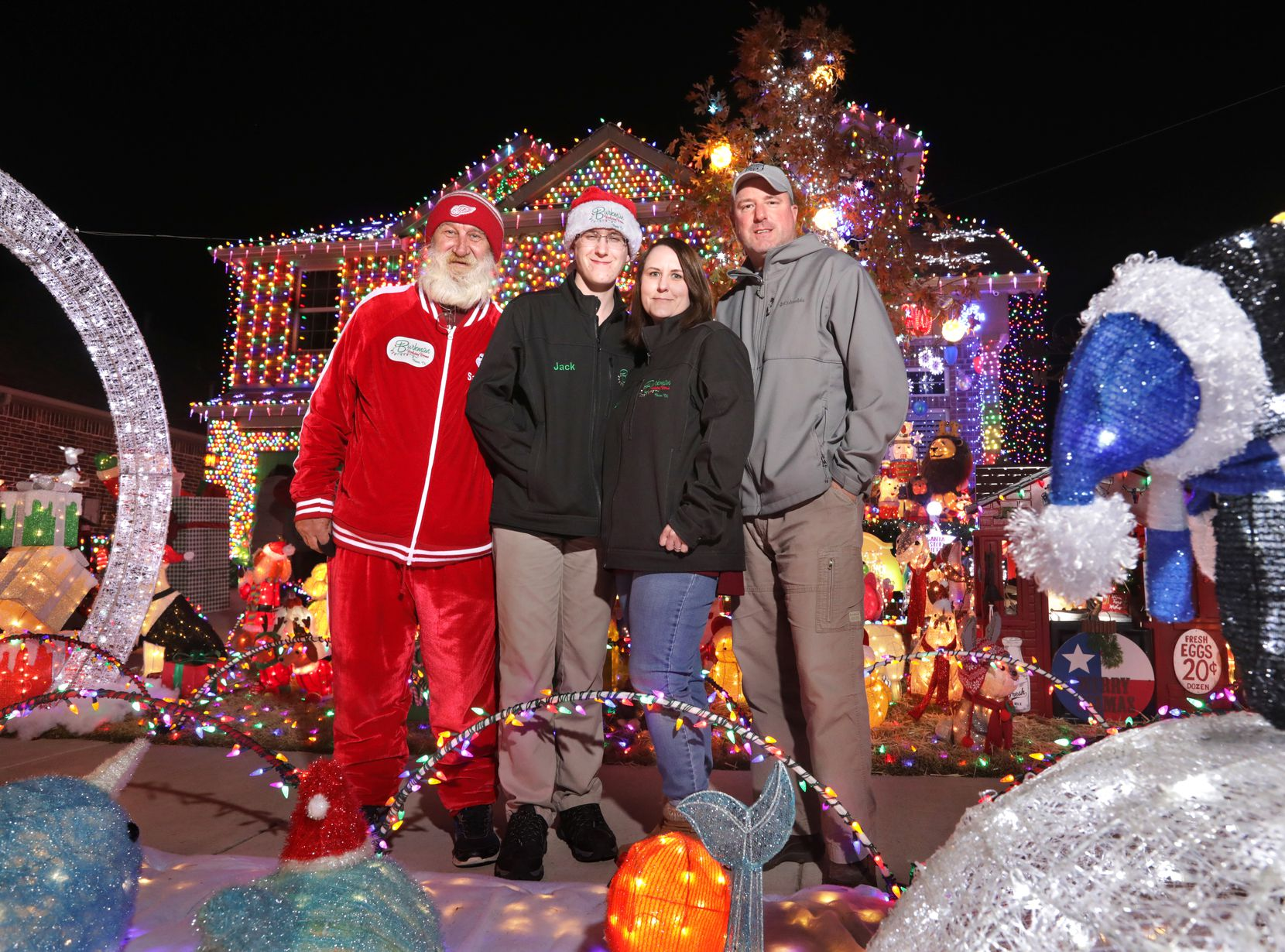 "From left, Gene ""Sanpa"" Skalskyj, Jack Burkman, Jennifer Burkman and Corey Burkman. The Burkmans' older son, Alex, works for Tesla in Memphis, but will be in Frisco for the long Christmas weekend."