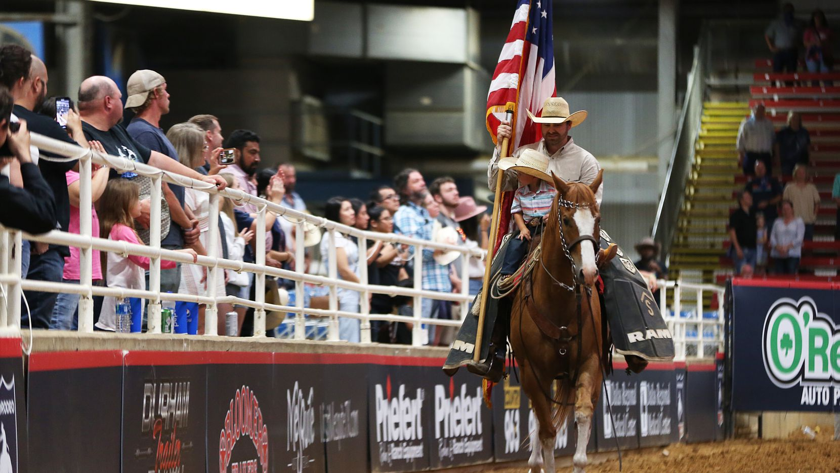 Rodeo fans enjoy show during the first day of competition for the Mesquite ProRodeo at Mesquite Arena last June. The city has canceled the annual Rodeo Parade for the second consecutive year because of COVID-19.