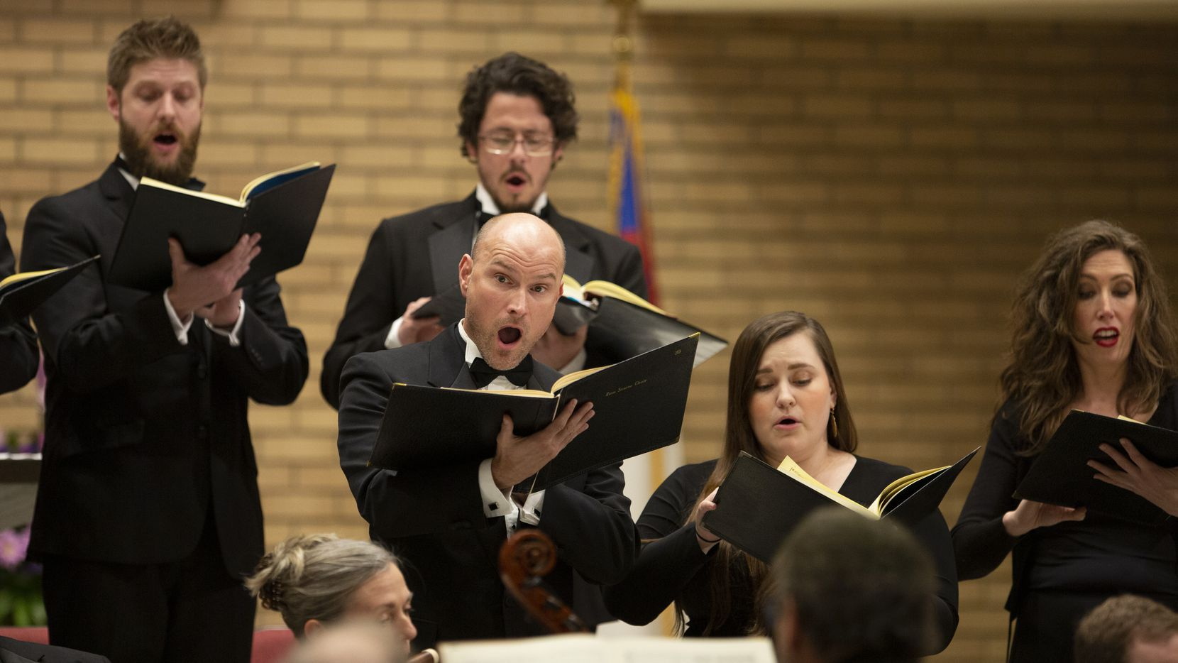 The Dallas Bach Society, shown here in a spring performance at Zion Lutheran Church, will play German baroque music for Advent on Nov. 23, 2019.