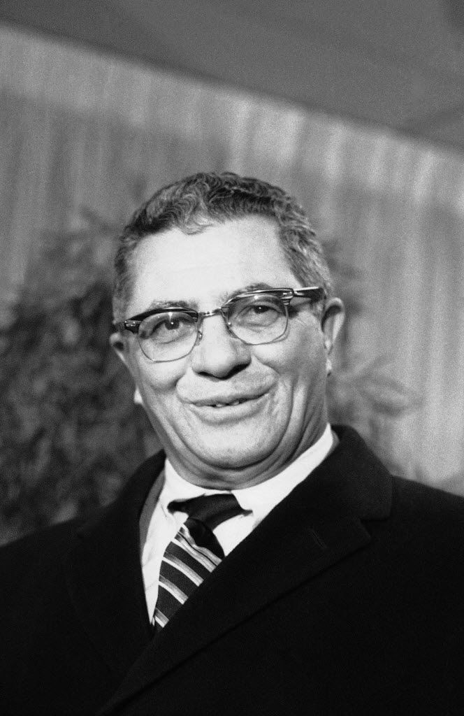 The great Vince Lombardi, who brought the Green Bay Packers to Fair Park on Jan. 1, 1967. (AP Photo/Marty Lederhandler, File)