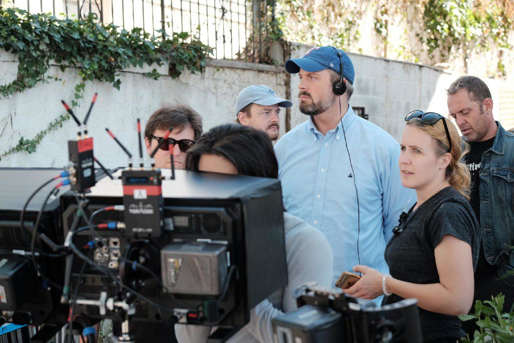 """Cinestate CEO, and producer of """"Brawl in Cell Block 99"""" Dallas Sonnier, on set in Staten Island, NYC. Brawl stars Vince Vaughn, Jennifer Carpenter, Don Johnson and is directed by S. Craig Zahler Bone Tomahawk"""