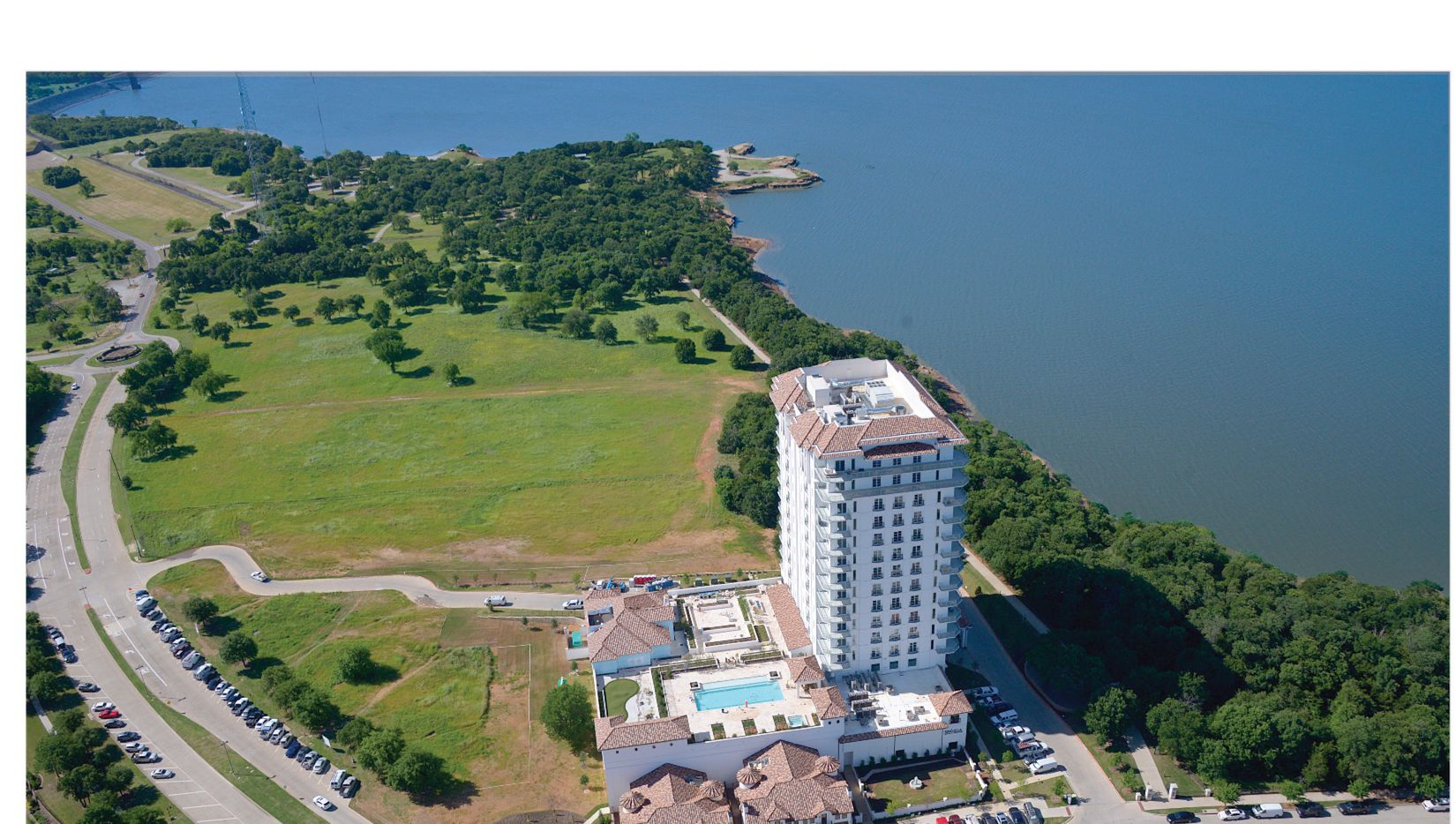 The Lakeside Tower condominium high-rise on Lake Grapevine has more than 50 units.