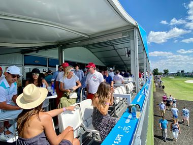 Corporate suites got an intimate look at this year's AT&T Byron Nelson tournament.