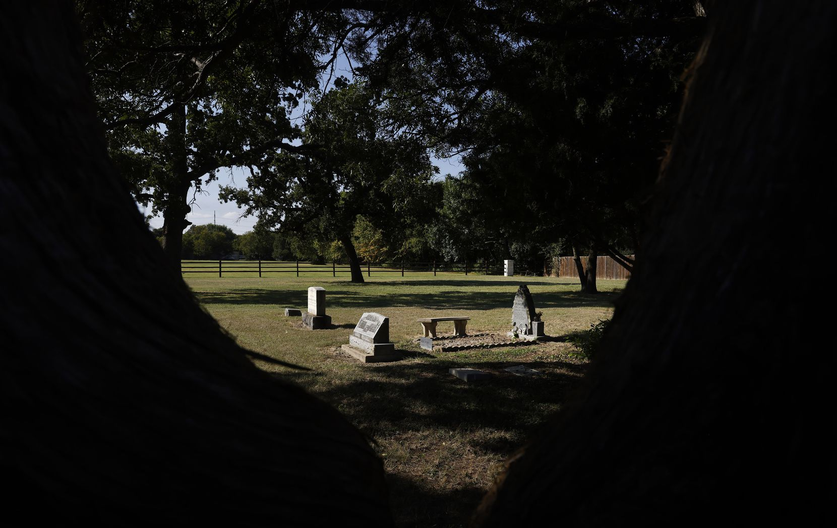 Lonesome Dove Cemetery in Southlake, Texas, is one of the oldest cemeteries in the state. Legend has it that the adjacent church of the same name was the first non-Catholic church between North Texas and the Pacific Ocean. Most of the early settlers were from Missouri.
