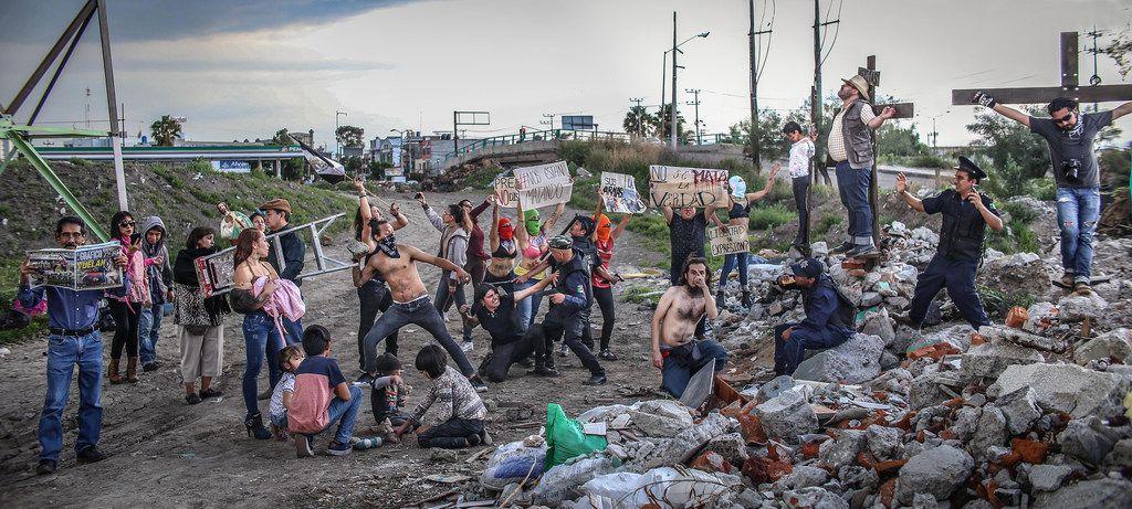 """Pablo Tonatiuh Alvarez Reyes  """"No se mata la verdad""""  (2018) digital photo print"""