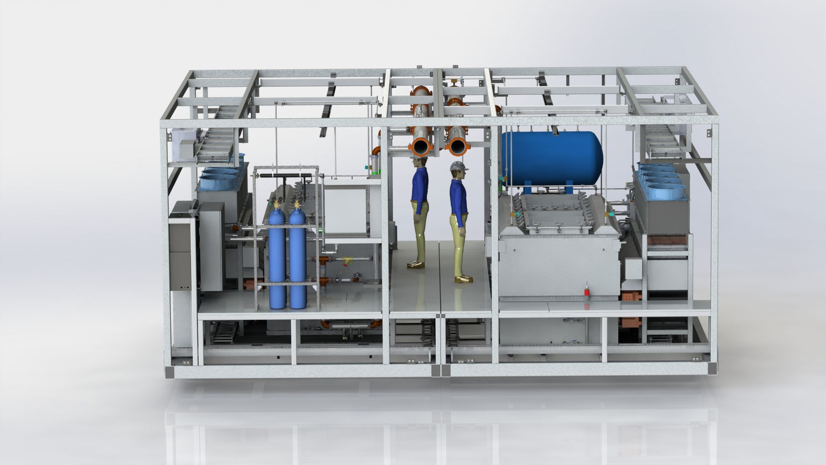 A rendering of the dual-phase cooling system TMGcore hopes to employ in their new data center.