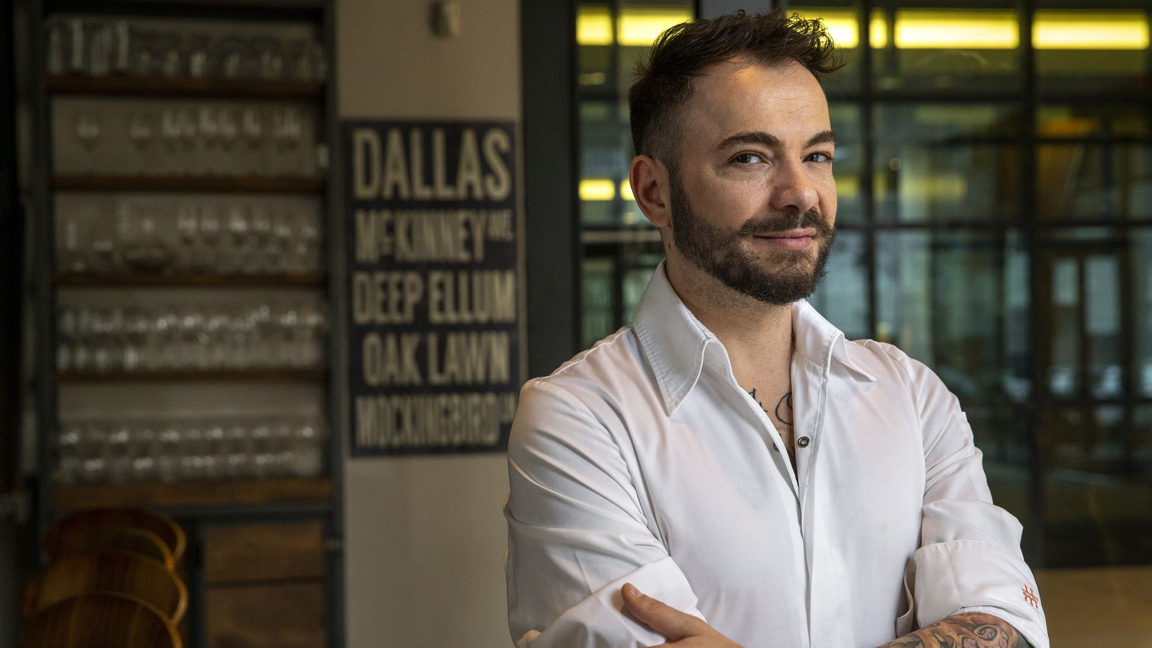 Chef Giuliano Matarese poses for a portrait at Mille Lire restaurant in Dallas on Friday, Jan. 17, 2020.