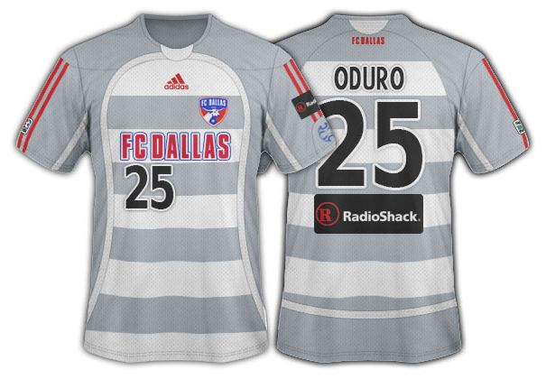 2006-07 FC Dallas grey and white hoops seconday