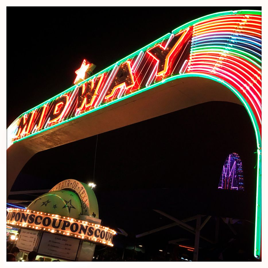The Midway arch leads fairgoers to the rides and games during the State Fair of Texas at Fair Park in Dallas, Saturday, October 15, 2016. (Tom Fox/The Dallas Morning News)