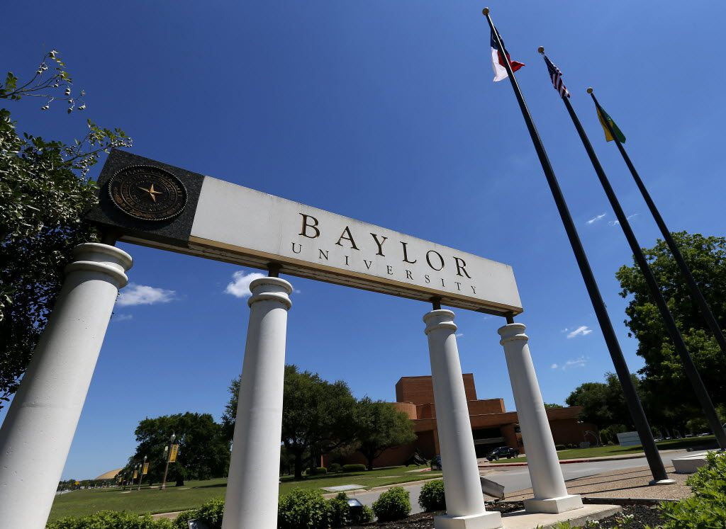 A sign of Baylor University is seen on South University Parks Drive in Waco, Texas, Tuesday, May 3, 2016. (Jae S. Lee/The Dallas Morning News)