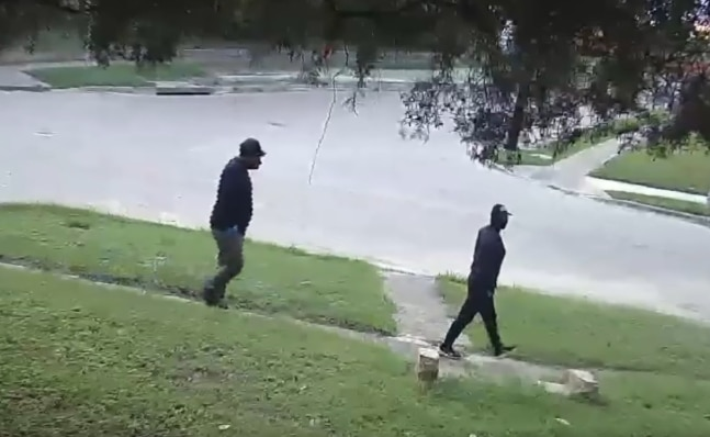 An image from surveillance footage released by Fort Worth police showing individuals of interest in the Sept. 14, 2020, slaying of a 19-year-old woman south of downtown.