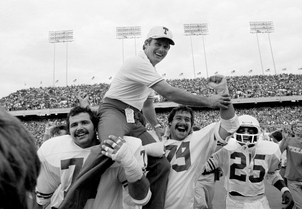 FRED AKERS  (1977) / Improved team from 5-5-1 to 11-1 / Best record of any first-year coach at Texas.