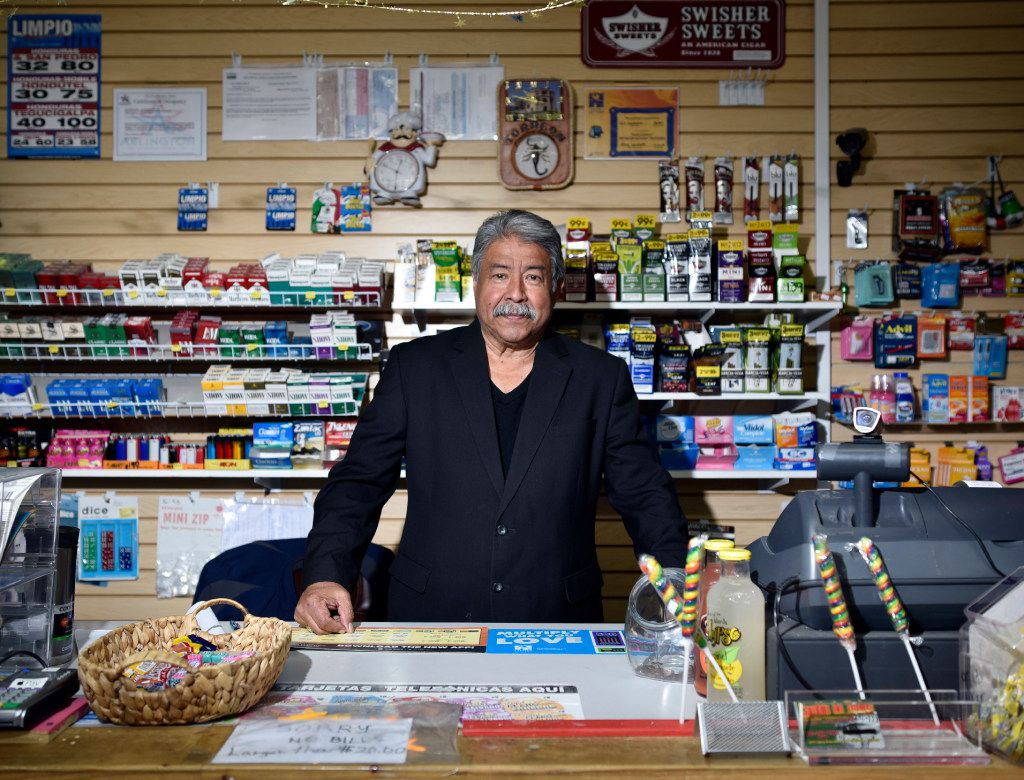 Gil Cerda, candidate for city council District 6, at his small neighborhood store, Tuesday morning, Feb. 14, 2017 in Arlington. (Ben Torres/Special Contributor)