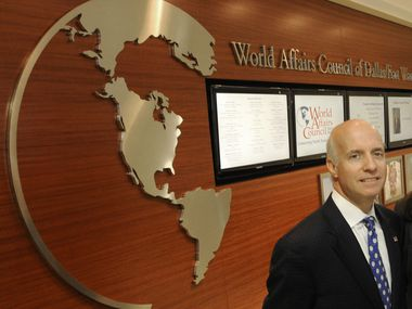 Jim Falk, President and CEO World Affairs Council of Dallas Ft. Worth, is shown in 2010
