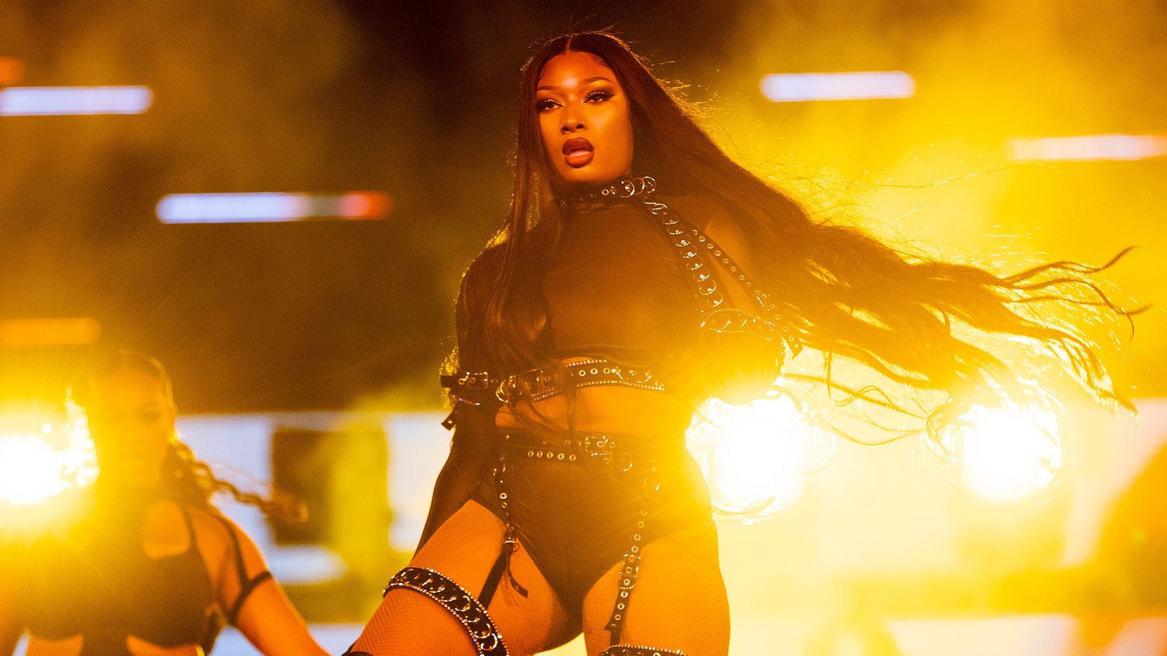 Megan Thee Stallion performed at Red Rocks Amphitheatre on Sept. 2 in Morrison, Colo.