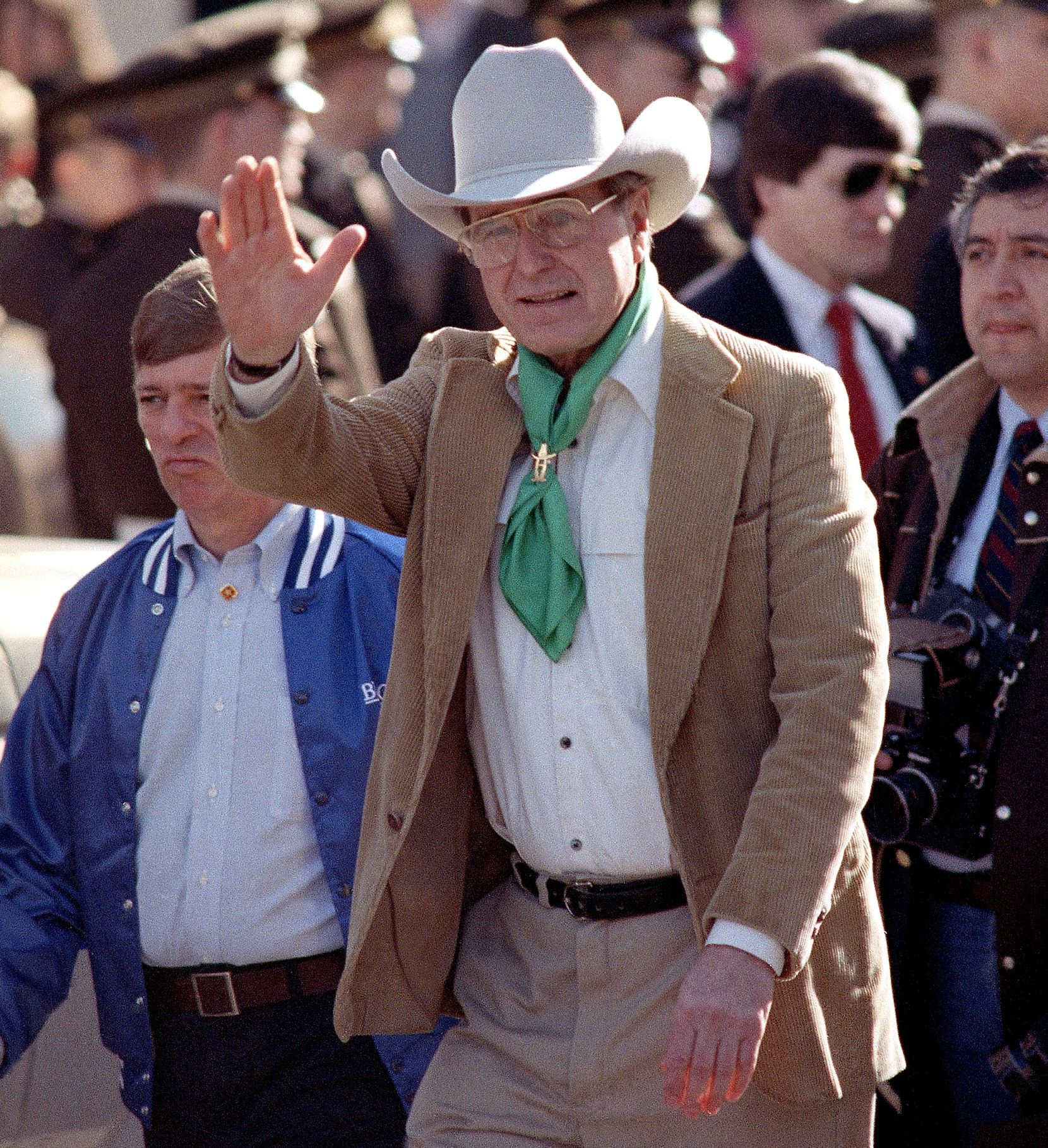 Then-Vice President George H.W. Bush was in Houston on Feb. 20, 1988, to participate in the Houston Rodeo Parade.