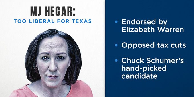 A screenshot of the ad by the National Republican Senatorial Committee, which shows an image of Democratic Senate candidate MJ Hegar with gray hair and wrinkles.