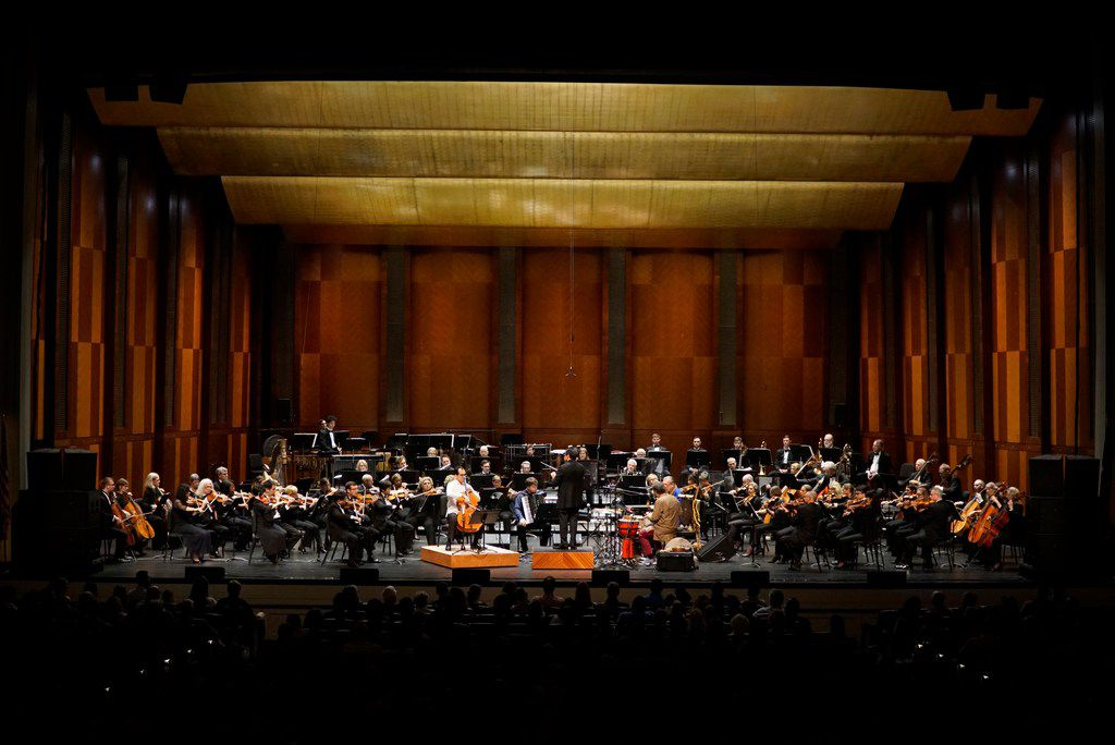 In pre-pandemic times, the Fort Worth Symphony Orchestra filled the stage at the Bass Performance Hall in Fort Worth.