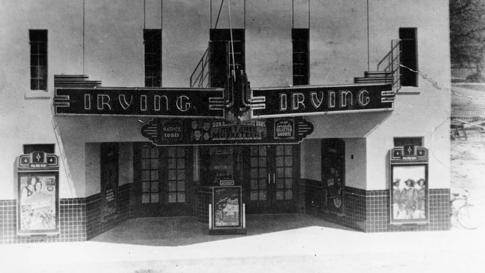 The Irving Theater, which looks like the Alamo, was the city's original cinema.