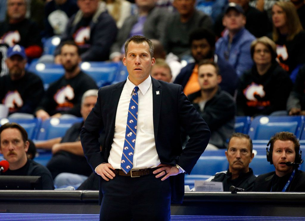Texas-Arlington head coach Scott Cross watches a his team played Florida Gulf Coast during the second half of their mens basketball game in Arlington, Texas, on December 9, 2017. Florida Gulf Coast defeated UTA 85-78. (Michael Ainsworth/Special Contributor)