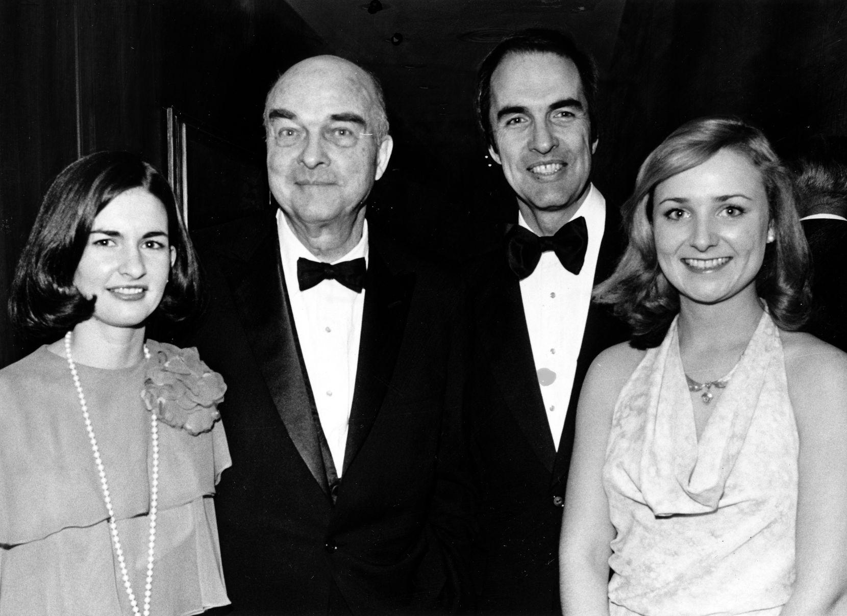 In Dallas in 1974, from left: Chris Jonsson, J. Erik Jonsson, Philip Jonsson and Teresa Haggerty.