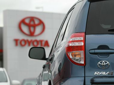 Toyota's RAV4 and RAV4 hybrid were among the fastest-selling new vehicles in Dallas-Fort Worth last month.