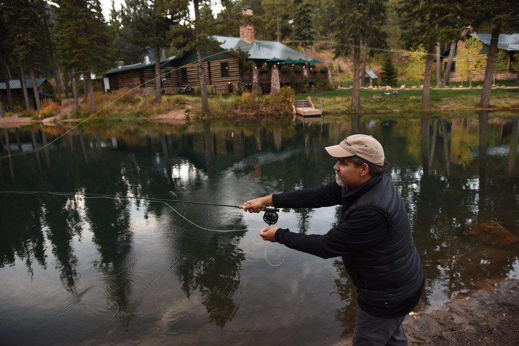 The Ranch at Emerald Valley has lakes stocked with trout for fly fishing.