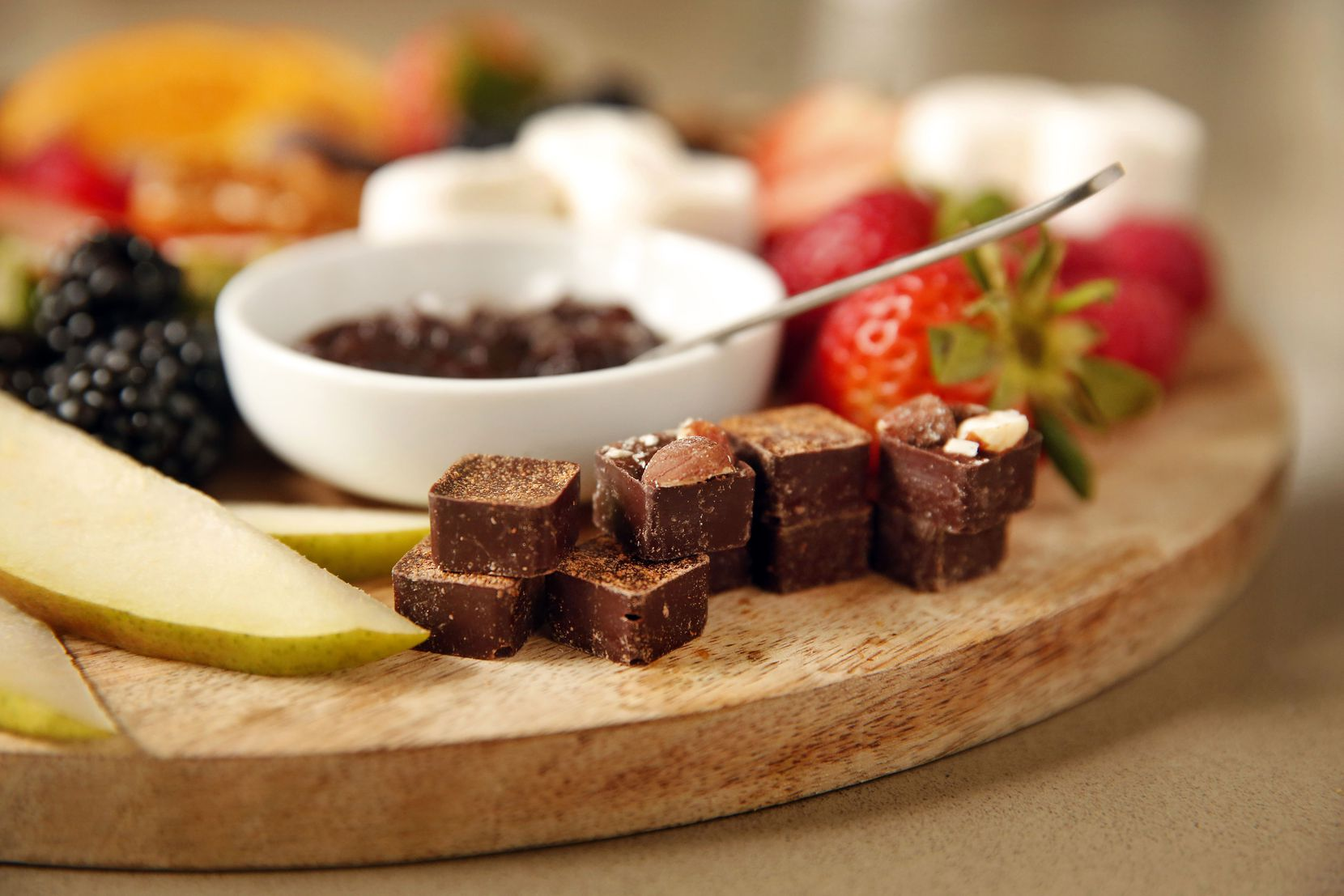 Deric and Brooklynn Cahill plan on selling a dessert board which includes their vegan chocolates.