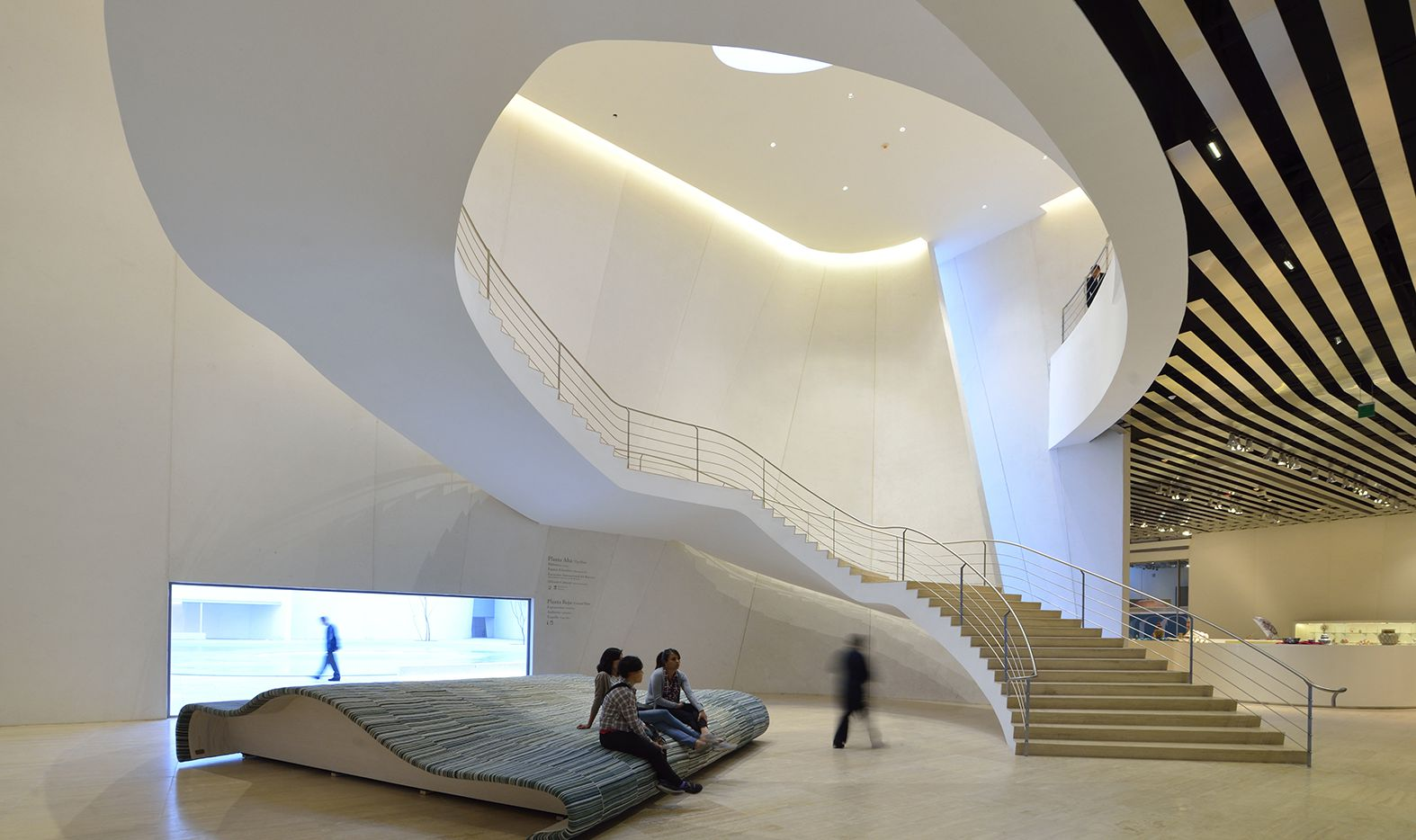 Toyo Ito's grand baroque staircase in the Museum of the International Baroque.