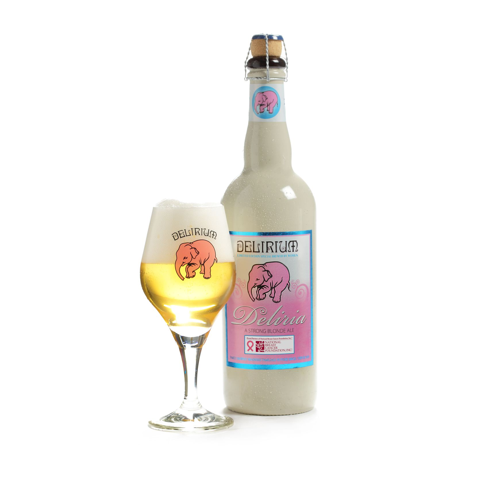 Deliria is classified as a strong Belgian blond ale and is made every year by a team of female brewers at the Huyghe Brewery in Melle, Belgium.