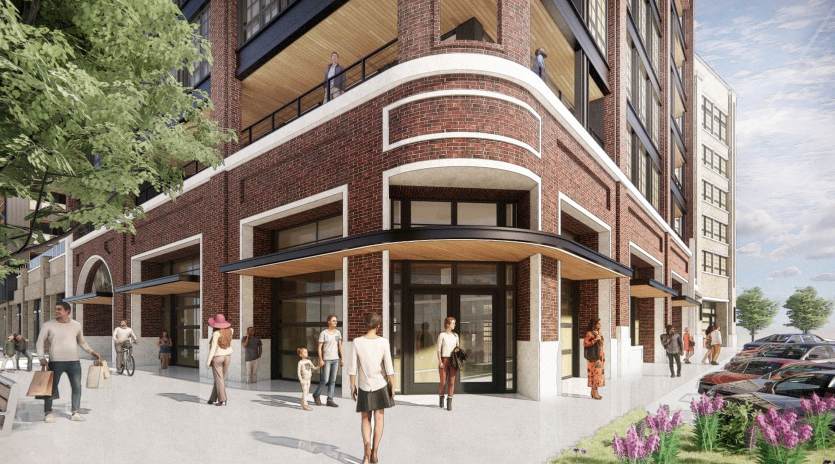 The Willow building will have ground floor retail and live/work units.
