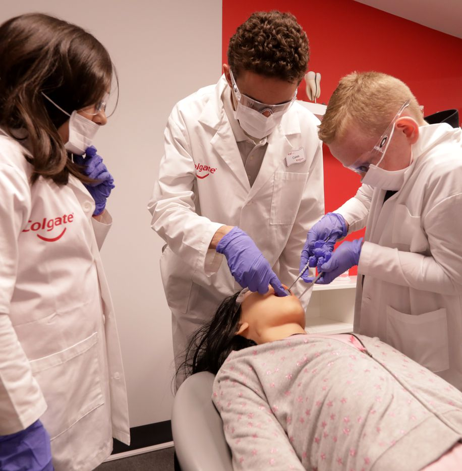 Children learn about dentistry at Stonebriar Centre's KidZania.